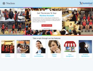 nucleus.fountainheadschools.org screenshot
