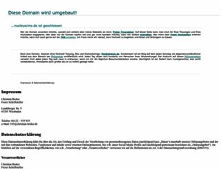 nucleuscms.de screenshot