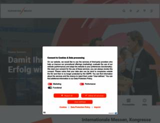 nuernbergmesse.de screenshot