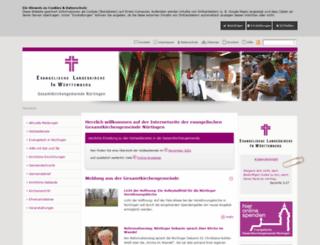 nuertingen-evangelisch.de screenshot