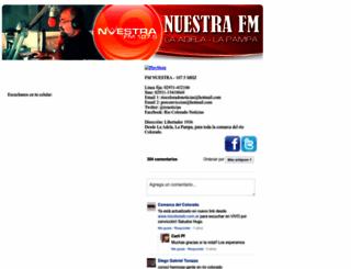 nuestrafm.com screenshot