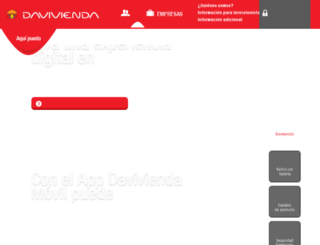 nuestrared.davivienda.com screenshot