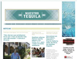 nuestrotequila.com screenshot