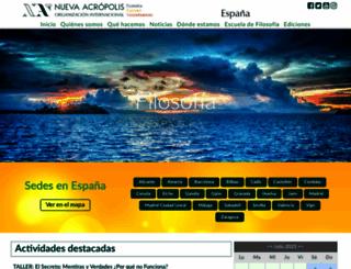 nueva-acropolis.es screenshot