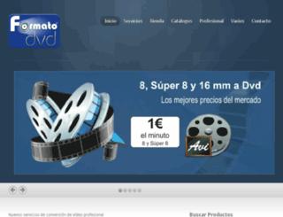 nueva.formatodvd.com screenshot
