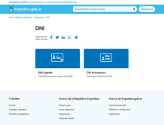 nuevodni.gov.ar screenshot