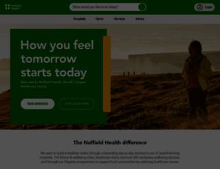 nuffieldhealth.com screenshot