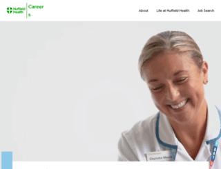 nuffieldhealthcareers.com screenshot
