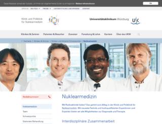 nuklearmedizin.ukw.de screenshot