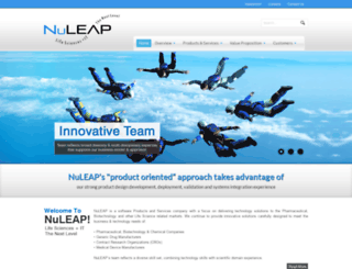 nuleaptech.com screenshot