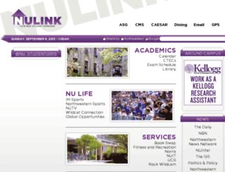 nulink.northwestern.edu screenshot