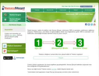 numarasikayet.com screenshot