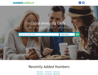 number-lookup.com screenshot