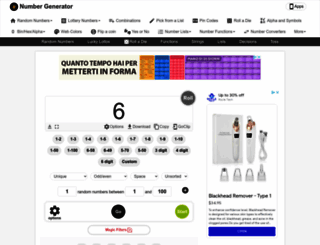 numbergenerator.org screenshot