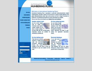 numberingplans.com screenshot