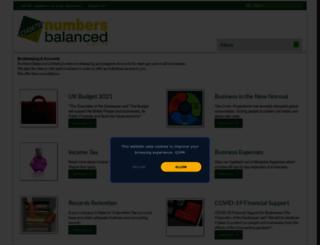 numbersbalanced.com screenshot