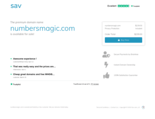 numbersmagic.com screenshot