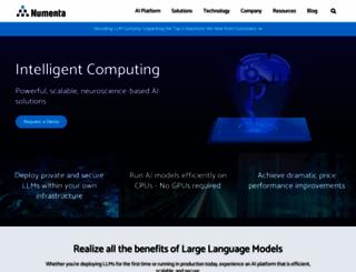 numenta.org screenshot