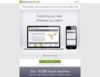 numeracyready.co.uk screenshot
