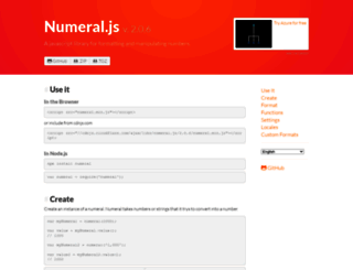 numeraljs.com screenshot