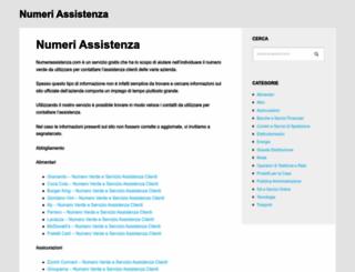 numeriassistenza.com screenshot