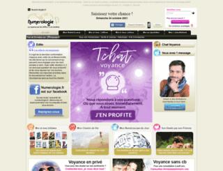 numerologie.fr screenshot