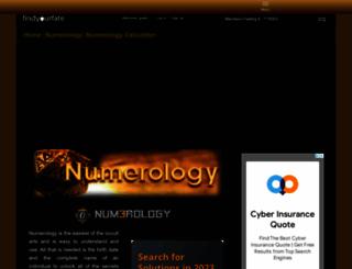 numerology.findyourfate.com screenshot