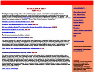 numerologyhelp.com screenshot