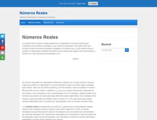 numerosreales.com screenshot