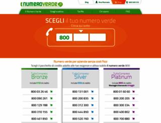 numeroverde.it screenshot