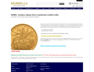 numis.cz screenshot
