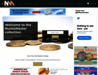 numismaster.com screenshot