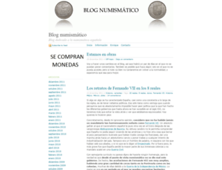 numismatico.wordpress.com screenshot