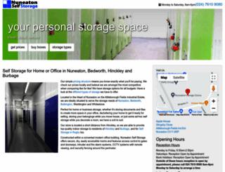 nuneatonselfstorage.co.uk screenshot