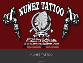 nuneztattoo.com screenshot