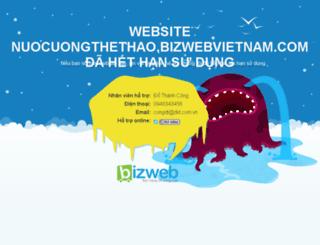 nuocuongthethao.bizwebvietnam.com screenshot
