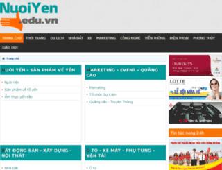 nuoiyen.edu.vn screenshot