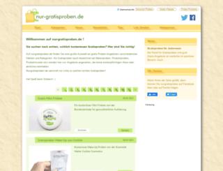 nur-gratisproben.de screenshot