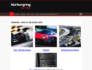 nurburgringlaptimes.com screenshot