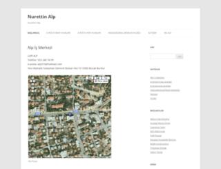 nurettinalp.com screenshot