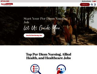 nursefinders.com screenshot