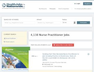 nursejobsnationwide.com screenshot