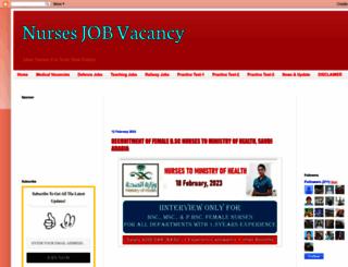 nursesjobvacancy.com screenshot