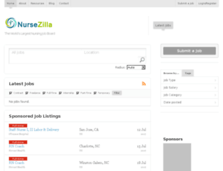 nursezilla.com screenshot