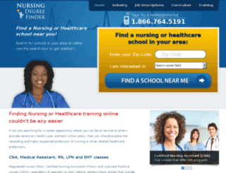 nursing-degree-finder.com screenshot