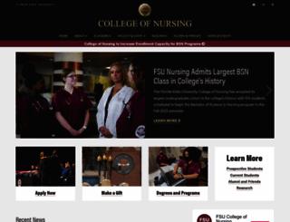 nursing.fsu.edu screenshot