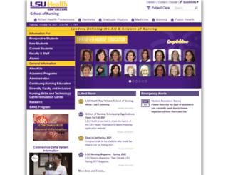 nursing.lsuhsc.edu screenshot