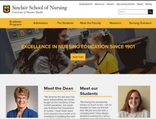 nursing.missouri.edu screenshot
