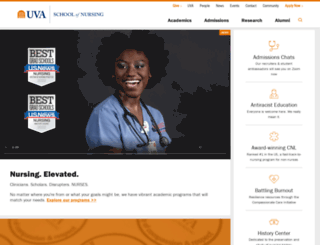 nursing.virginia.edu screenshot