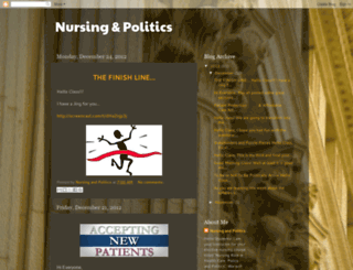 nursingandpolitics.blogspot.com screenshot